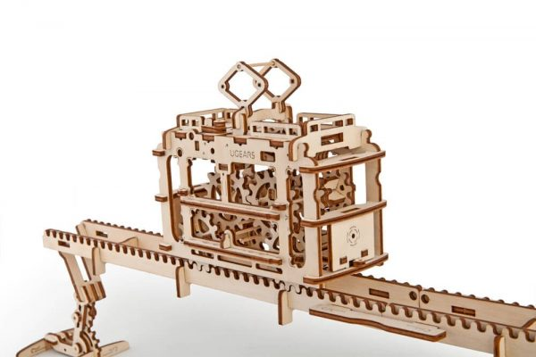 tram on rails Ugears Models Australia